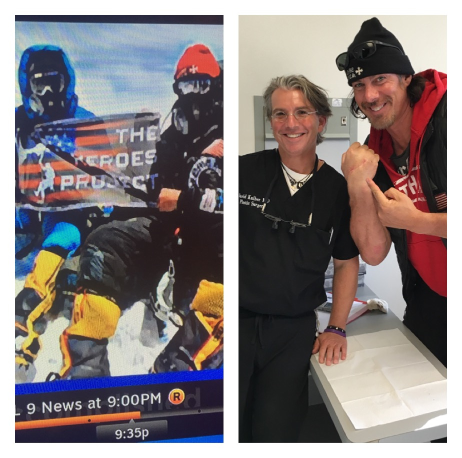 Dr. Kulber operates on Heroes Project founder Tim Wayne Medvetz, reaches Summit